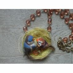 #jewelry #jewels #bijoux #necklace #fashion #handmade #cat #funny #bird #romantic # An item from Etsy.com: I added this item to Fashiolista