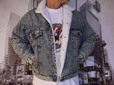 $ LEVI'S SAN FRANCISCO & CO.SHERPA TRUCKER JACKET ACID WASH MEN'S M MADE IN USA   eBay