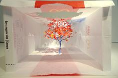 Miniature Tree Carved From McDonald's Olympic Paper Bag by Yuken Teruya