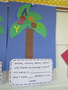 Cut craft/worksheet for ChickaChicka Boom Boom.... ABC week!    Under the Alphabet Tree: Busy bees!