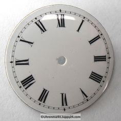 4 St. Emaille Zifferblätter für Taschenuhren, Zifferblatt, pocket Watches, Enamel, Wristwatches, Clocks