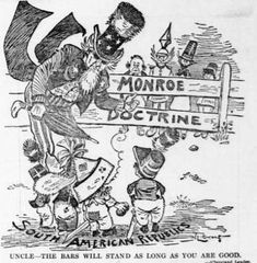 On December President James Monroe declared that the America continents stayed out of European affair. Any future colonization by European power would be considered as acts of aggression. History Cartoon, Ap Us History, History Memes, World History, History Education, Teaching History, American War, American History, Monroe Doctrine
