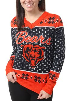 Chicago Bears Womens Orange Big Logo Sweater Chicago Bears Gear, Chicago Bears Women, Christmas Sweaters For Women, Ugly Christmas Sweater, Womens Christmas, Tacky Sweater, Gay Outfit, Chicago Shopping, Football Outfits