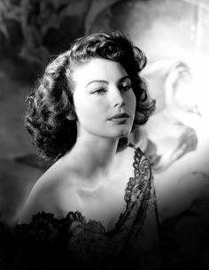 Ava Gardner, mid-1940s.
