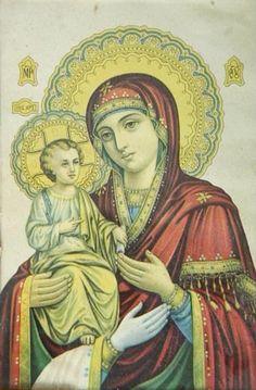 Heilige Ikonen mit Maria und dem Jesukind sind besonders beliebte Motive christlicher Kunst. Neben ihrer hohen Bedeutung für den Glauben werden diese Heiligenbilder auch als Dekoration und religiöse Geschenke bevorzugt.