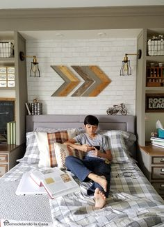 Vintage Industrial Teen Boy bedroom