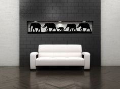 Elephant Family  Vinyl Wall Art Decal by VinylWallAccents on Etsy, $48.00