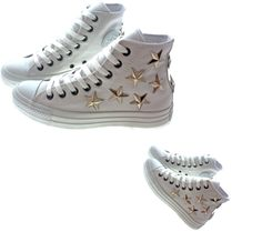 """""""Studded Converse by CUSTOMDUO on ETSY"""" by juin120 ❤ liked on Polyvore"""