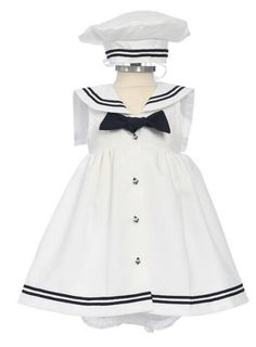 Girls 3 Piece Sailor Dress Set