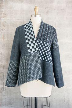 Checker Jacket in Indigo Mix