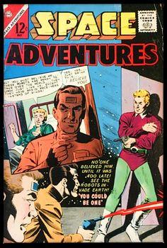 Charlton Comics, Comic Book Plus, Sci Fi Comics, Adventure, Cover, Books, Space, Golden Age, Floor Space