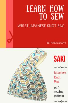 Saki is an easy sewing pattern based on the classic Japanese Knot Bag design.Redesigned to be easier to sew (no rounded seams to sew!), while the new concept of construction makes it fun to create a bag with a professional end result.What you will learn:Sewing straight linesTop stitchingBasic of bag making with lining.  #sewing #isew #knotbag #japandesign #japanese #easysewing #easyproject #craftproject #sewingpatterns #easypatterns #bagmaking #dicebag Learn Sewing, Learn To Sew, Japanese Knot Bag, Dice Bag, Japan Design, Easy Sewing Patterns, Bag Design, Knitted Bags, Easy Projects