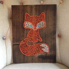 MADE TO ORDER String Art Fox Sign by TheHonakerHomeMaker on Etsy, $45.00