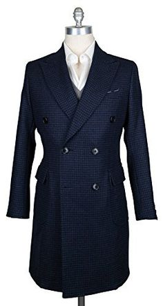 General Info Fabric Info & Styling – Color: Navy Blue – Pattern: Check – Pattern Color: Blue – Fabric Content: 100% Virgin Wool – Fabric Weave: Plain Weave – Fabric Weight: Medium – Venting: Single Vented – Sleeve Buttons: 4 Sewn on...  More details at https://jackets-lovers.bestselleroutlets.com/mens-jackets-coats/wool-blends-mens-jackets-coats/product-review-for-luigi-borrelli-navy-blue-peacoat/