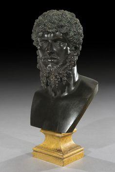 Grand Tour Decorative Bronze of Lucius Verus Emperor of Rome Ca1860 Italy.