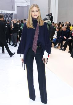 Olivia Palermo just wore the perfect outfit on the Chloe front row in Paris Fashion Week. Shop her look here...