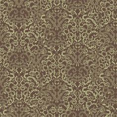 The Wallpaper Company - 20.5 In. W Brown and Green Modern Lace Damask Wallpaper - WC1280617 - Home Depot Canada