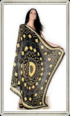 Grande foulard crepe de chine 140x140
