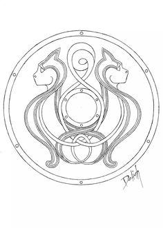 Viking Shield Design, Art Portfolio, Vikings, My Arts, Photo And Video, Cards, Instagram, The Vikings, Map