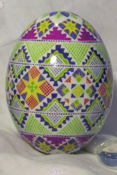 Duck Egg Pysanka by Katrina Lazarev, Pysanky. It is such a delight to have Katrina join Pinterest so we can admire her beautiful eggs as she posts her photo's!