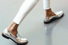 silver shoes trends