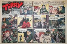 Terry and The Pirates by Wunder Large Half Page Sunday Comic Jan 25 1948 | eBay
