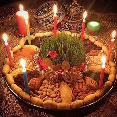 Happy Novruz Holiday Serving Dishes Homemade Recipes Holiday