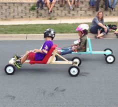 Remembering a time when my son and I built a soap box derby car and as he…