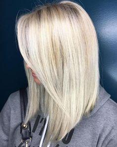 Long Platinum Blonde Bob bob hairstyles blonde 40 Styles with Medium Blonde Hair for Major Inspiration Bob Hairstyles For Fine Hair, Long Bob Haircuts, Lob Hairstyle, Blonde Long Bob Hairstyles, Hairstyle Ideas, Hairstyles 2018, Hairstyles Pictures, Layered Haircuts, Fine Hair Hairstyles