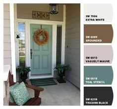 """A painted front door is all about personality!"" Exterior Inspiration – Personalize Your Front Door Simpson Design + Decor Blog http://simpsondesigndecor.com/exterior-inspiration-personalize-your-front-door/"