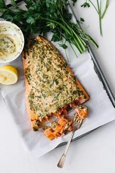 Dijon Baked Salmon - The Best Baked Salmon Recipe | Downshiftology Baked Salmon Recipes, Fish Recipes, Seafood Recipes, Healthy Dinner Recipes, Paleo Recipes, Cooking Recipes, Protein Recipes, Butter Salmon, Seafood Dishes