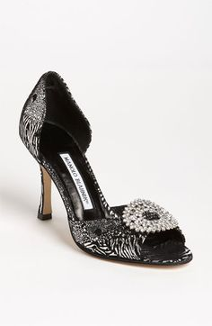 Manolo Blahnik 'Sedaraby' Open Toe d'Orsay Pump available at #Nordstrom