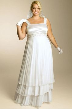 A-line Floor-length Spaghetti Straps Chiffon Plus Size Wedding Dresses with Appliques Style: