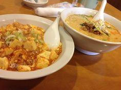 名古屋海鮮館のランチ。麻婆飯と担々麺。