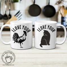 Funny Valentines Mug Set for Couples Gift I love Your Cock & Pussy Mugs Inappropriate Gift Gag Gift For Men Naughty Gift for Couples Mug Set Couples Coffee Mugs, Couple Mugs, Funny Coffee Mugs, Couple Gifts, Diy Christmas Gifts For Men, Couple Stuff, Funny Christmas, Craft Gifts, Diy Gifts