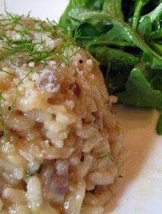 Mushroom Risotto and Arugula Salad