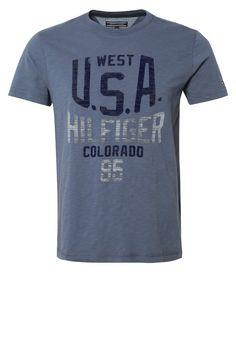 Tommy Hilfiger ANDREW - T-Shirt print - dark blue - Zalando.de
