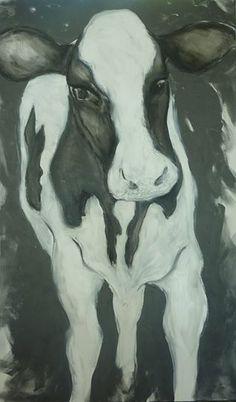 DAISY by CLARE WILCOX #clarewilcox #NZartist #cow #majubagallery #hanmersprings February 2015, Farm Animals, Cow, Daisy, Moose Art, Abstract, Gallery, Artist, Artwork