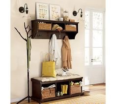 Mudroom storage bench - If you have a mudroom in your home, it is one of the most traffic congested areas in the house. That being said, mudroom can also Entryway Furniture, Home Furniture, Entryway Bench, Entryway Ideas, Hallway Ideas, Entry Hallway, Entrance Hall, Entryway Decor, Garage Entryway