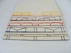 Couture japonaise - Julie Auzillon - le blog Notebook Binder, Diy Notebook, Book Crafts, Paper Crafts, Japanese Stab Binding, Travel Sketchbook, Creation Art, Journal Paper, Cartonnage