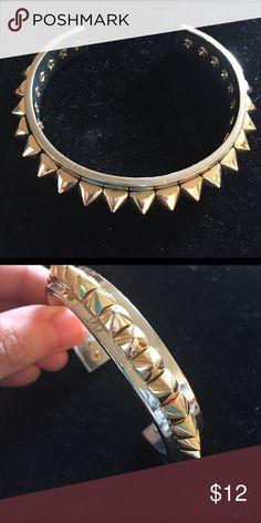 "C Wonder studded cuff bracelet Cuff bracelet in silver with gold studs. Cuff measure 5 1/2"" opening is approx 1 1/4"". c wonder Jewelry Bracelets"