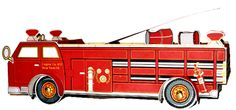 FREE Printable Fire Truck - 3-D Emergency Vehicle Paper Project - Fun Craft for all ages.