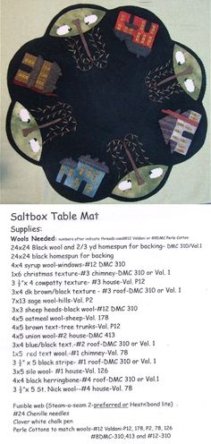 saltbox table mat
