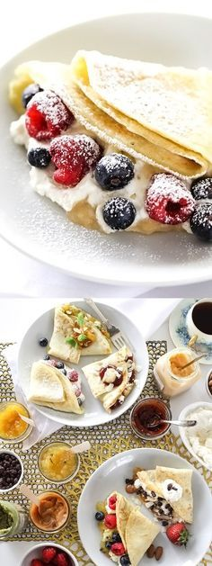 A variety of berries, cheese, jams, and sauces make Sweet and Savory Crepes for every taste | foodiecrush.com