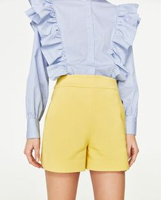 Image 2 of HIGH WAISTED SHORTS from Zara