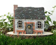 Fairy House Large Fairy Garden Cottage Vine by TheLittleHedgerow