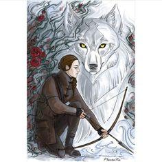 Feyre Art by phantomrin (I think it's pre ACOTAR)