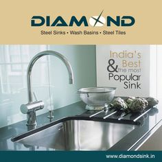 Your long lasting kitchen companion, Diamond Kitchen Sinks! Explore more at www.diamondsink.in #KitchenSinks #SteelSink #DiamondSinks #Sink #Kitchen