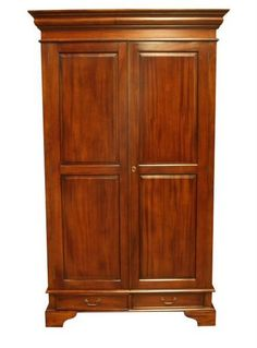 Armoires on pinterest for Armoire chambre style colonial
