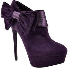 Side soft knot style close high heel shoes for ladies